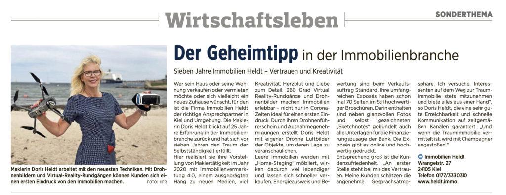 Immobilien HELDT Kieler Nachrichten #lieblingsmaklerin Kiel Makler Immobilien