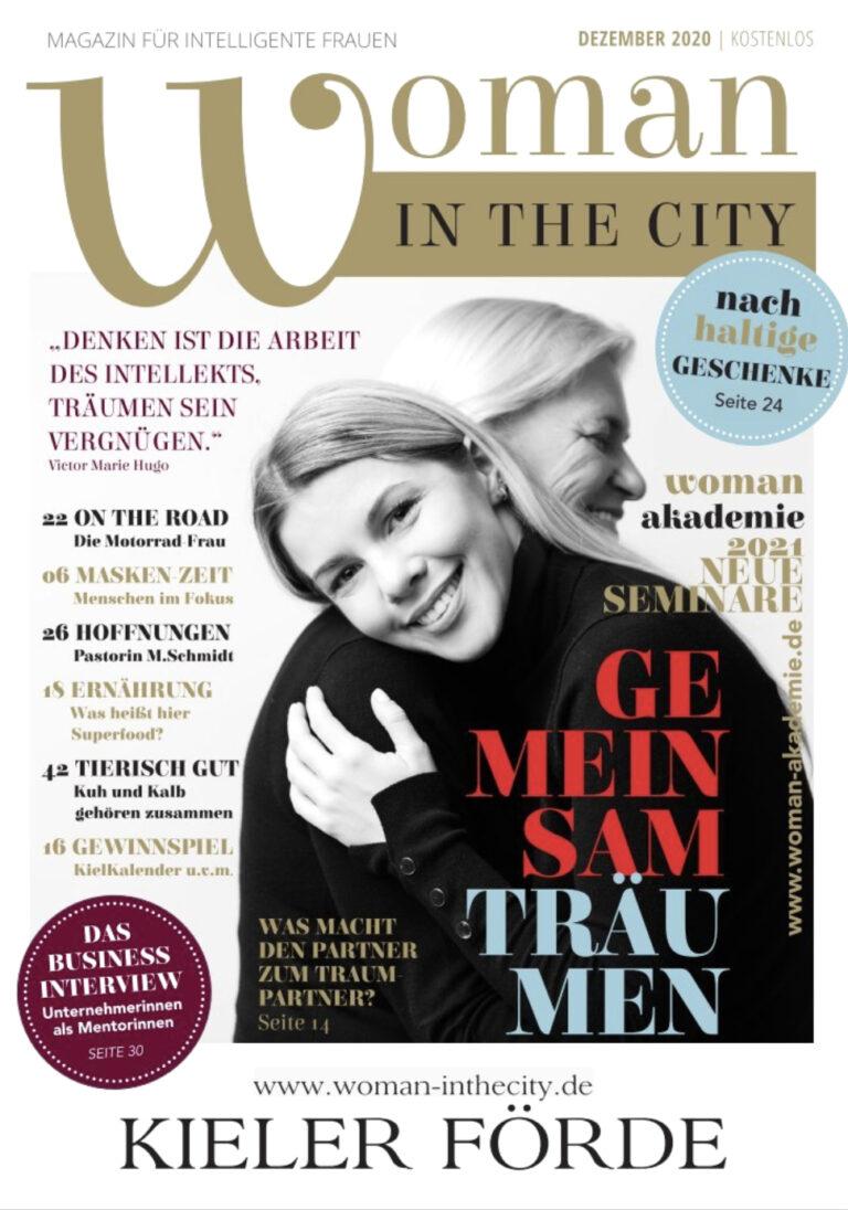 Titelseite Zeitschrift Woman in the city Dezember 2020